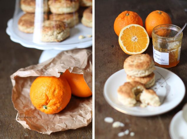 Orange-Ingwer-Scones